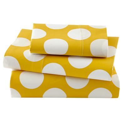 Not a Peep Toddler Sheet Set (Yellow w/White Dot)