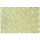 8 x 10' Lt. Green Diamonds Rug