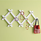 White Accordian Peg Rack