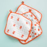 Orange Wash Up Washcloths (Set of 3)