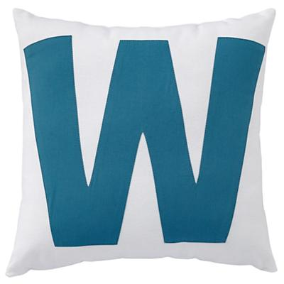 ABC Throw Pillows (Letter W)