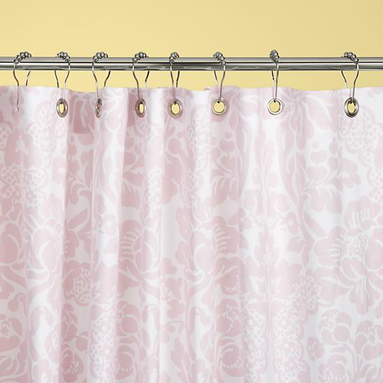 Kids Bathroom Gear: Girls Pink Floral Bathroom Shower Curtain in ...