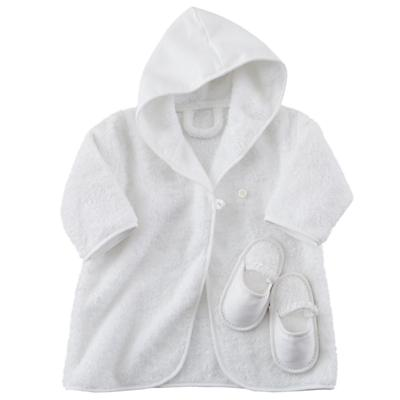 Baby Bathrobe and Slippers Set