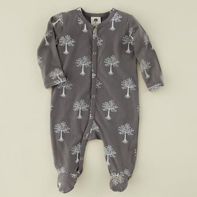3-6 mos. Grey Trees Long Sleeve Footie