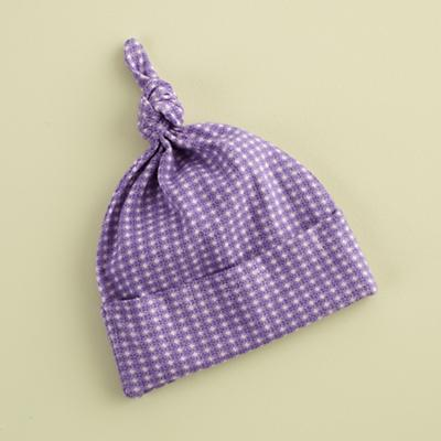 0-3 mos. Purple Deco Knot Hat