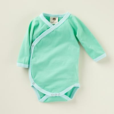 6-12 mos. Aqua Long Sleeve Snapsuit
