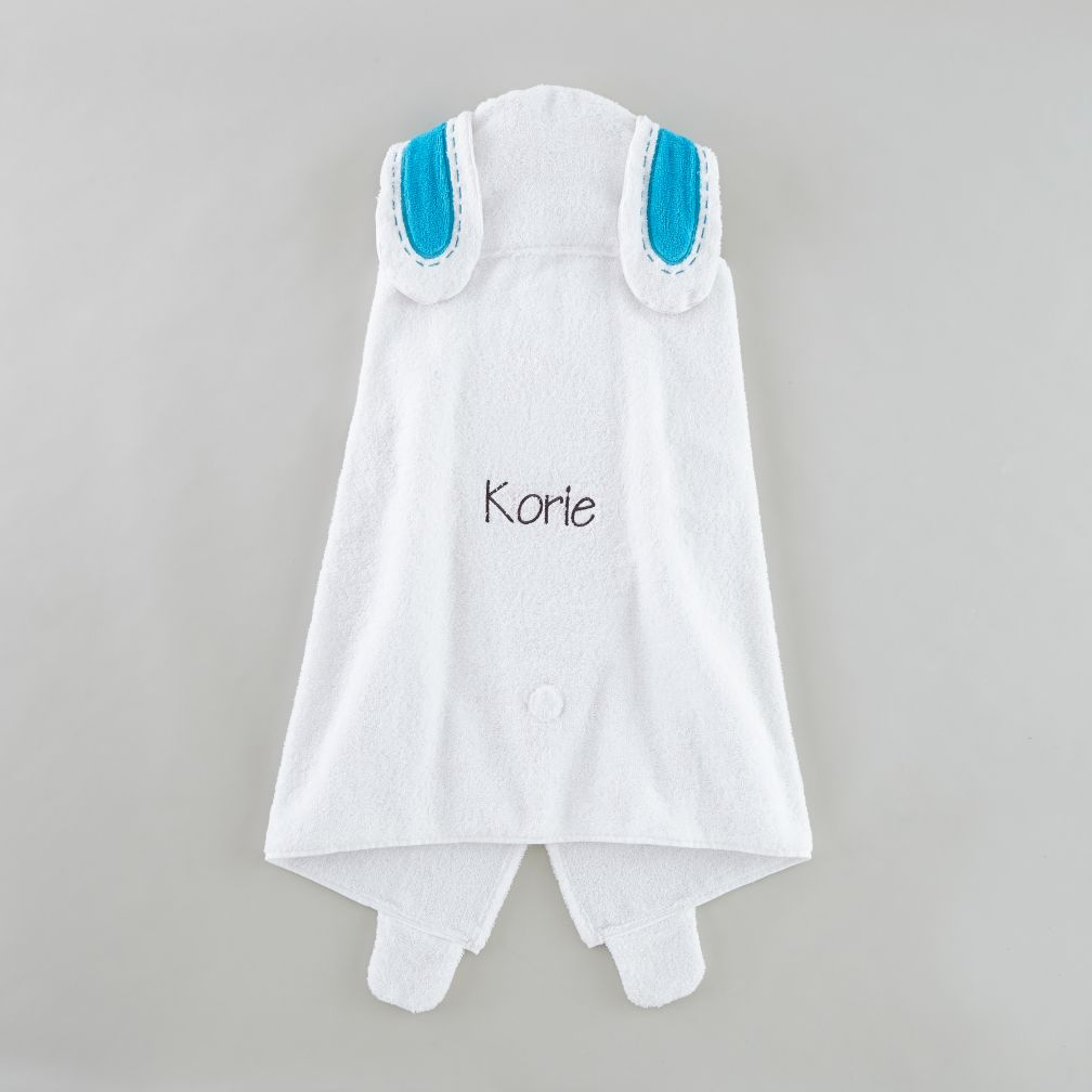 Personalized How Do You Zoo Hooded Towel (Bunny)