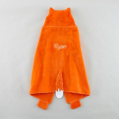 Personalized How Do You Zoo Hooded Towel (Fox)