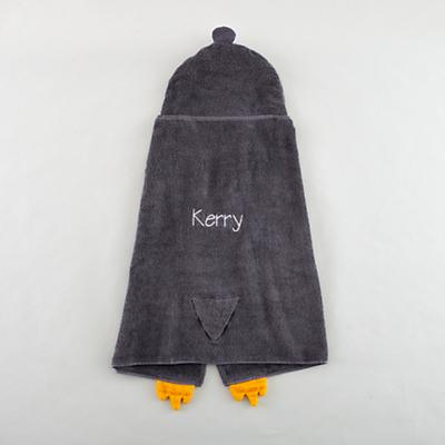 Personalized How Do You Zoo Hooded Towel (Penguin)
