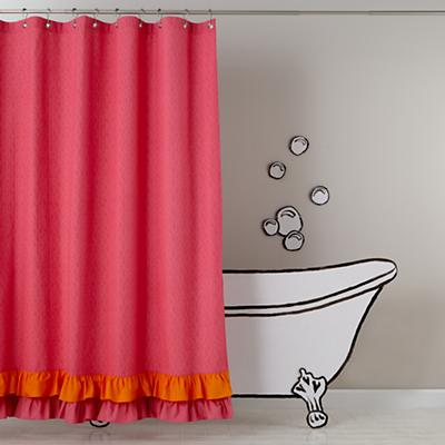 Ruffled Curtains Canada Ruffled up Shower Curtain Kids
