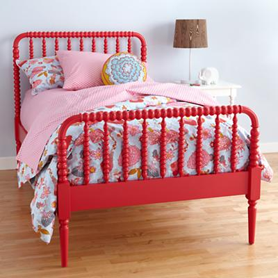 Full Jenny Lind Bed (Raspberry)
