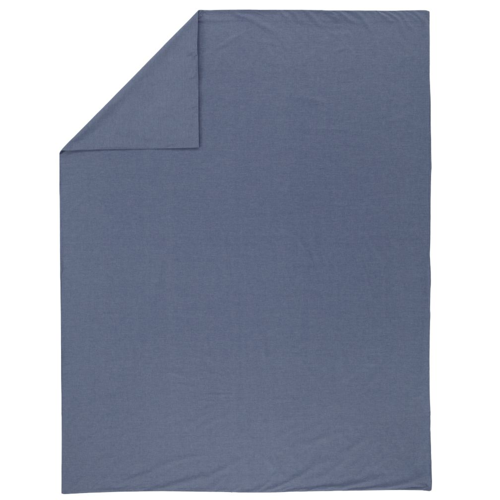Blue Chambray Duvet Cover (Full-Queen)