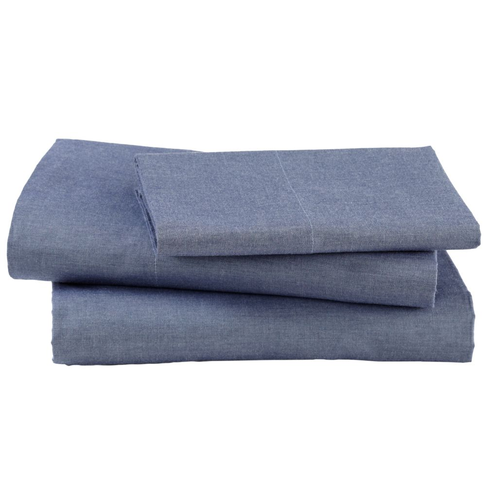 Blue Chambray Sheet Set (Twin)