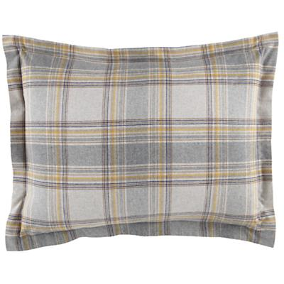 Grey Plaid Flannel Sham