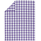 Twin Lavender Gingham Duvet Cover
