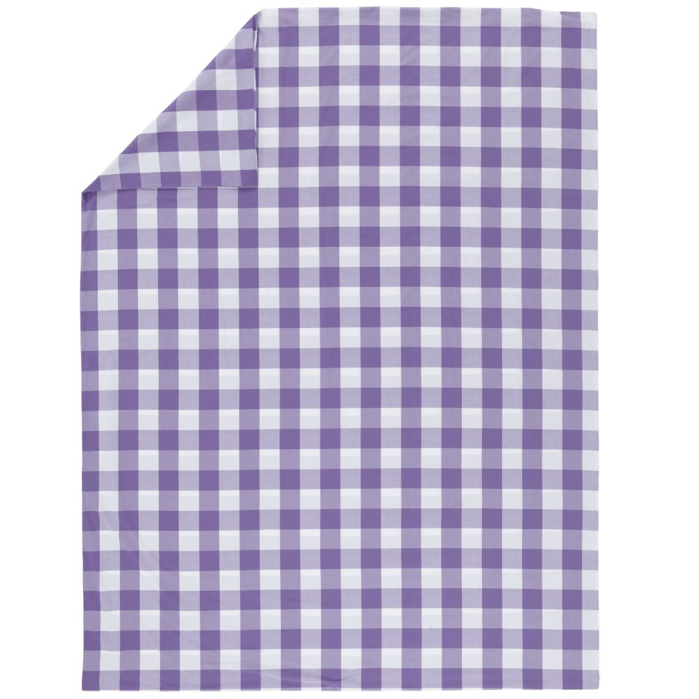 Full-Queen Lavender Gingham Duvet Cover