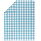Full-Queen Blue Gingham Duvet Cover