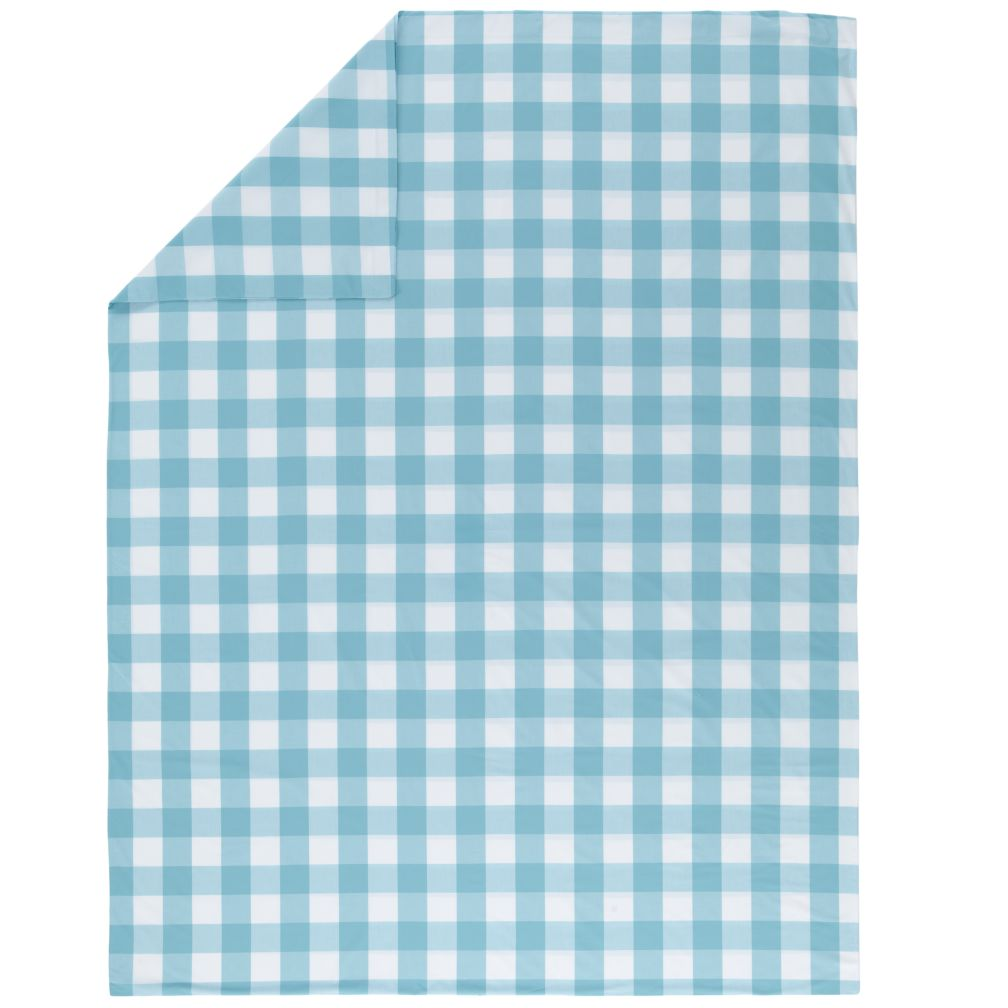 Blue Breezy Gingham Duvet Cover (Full-Queen)