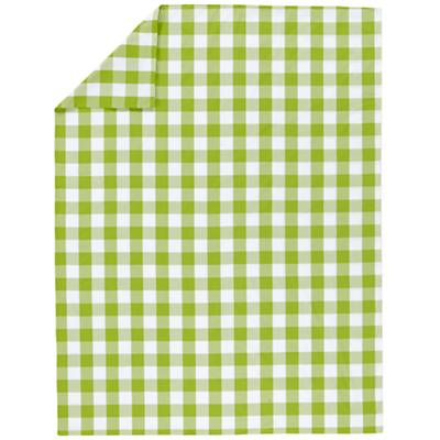 Green Breezy Gingham Duvet Cover (Full-Queen)