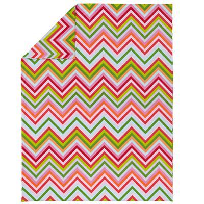 Full-Queen Watermelon Stripe Duvet Cover