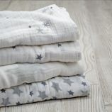 Star Swaddling Blankets (Set of 4)