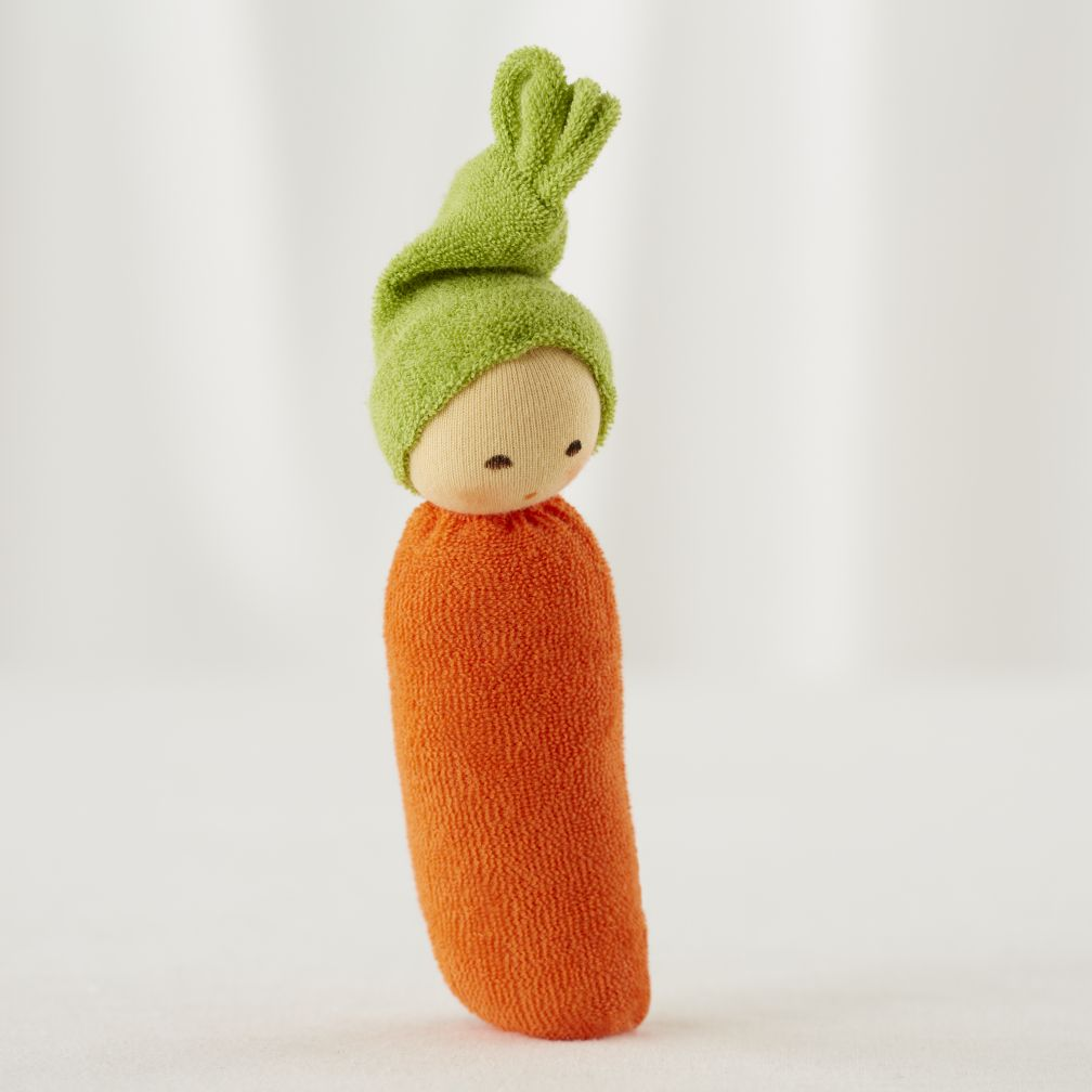 Orange Carrot Baby Rattle