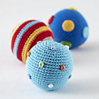 Knit Ball Rattles Set of 3A Savings of $9.85
