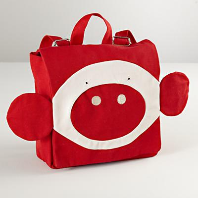 Red Piggy Backpack