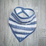 Bandana Bib (Blue Stripe)