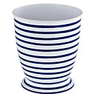 Maritime Blue Stripe Waste Bin