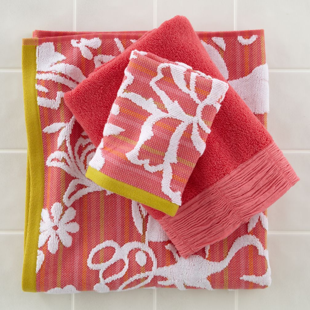 Floral Bath Towel Collection