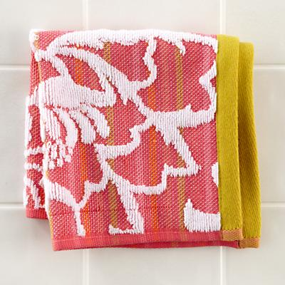 Raised Floral Washcloth