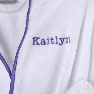 Personalized 5-8 yr. Bath Robe (Lavender)