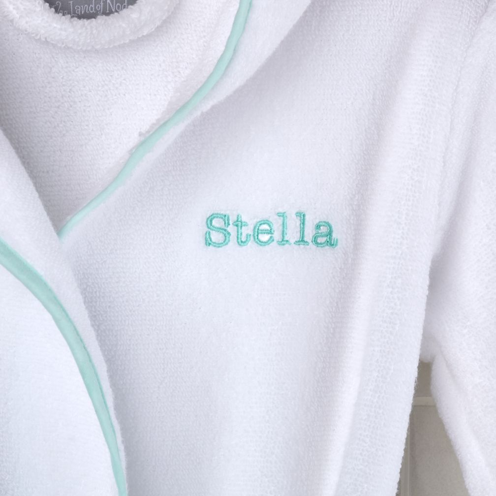 Personalized 2-4 yr. Bath Robe (Lt. Green)