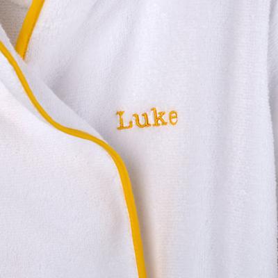 Personalized 5-8 yr. Bath Robe (Yellow)