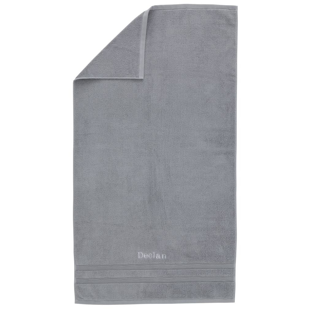 Personalized Fresh Start Bath Towel (Grey)