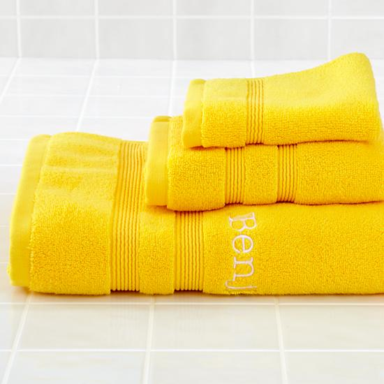 Bright Yellow Bathroom Colors: Yellow-bath-towels Images