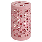 Pink Wildflower Toothbrush Holder