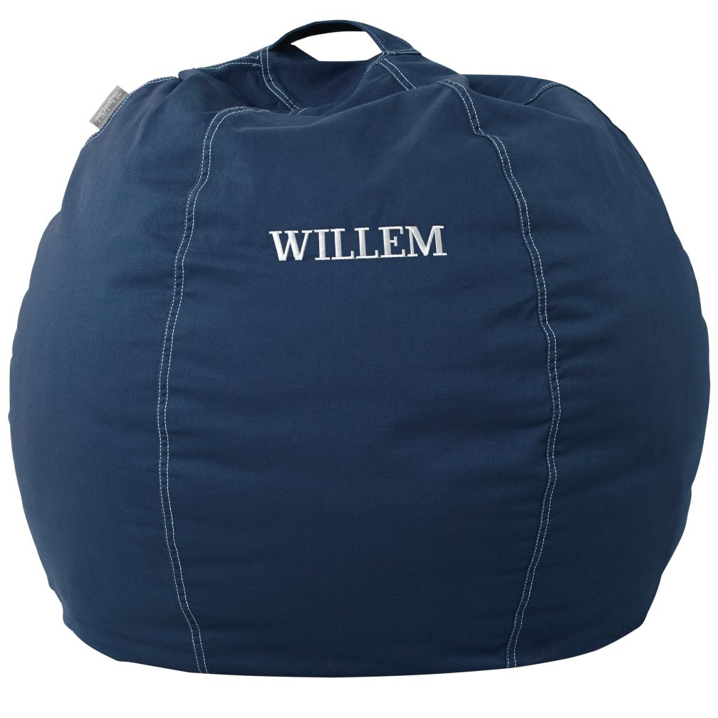 "30"" Personalized Bean Bag (Dk. Blue)"