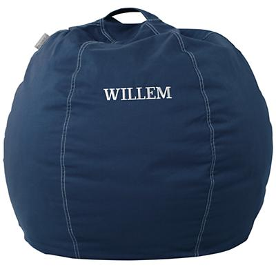 "30"" Personalized Bean Bag Cover (Dk. Blue)"