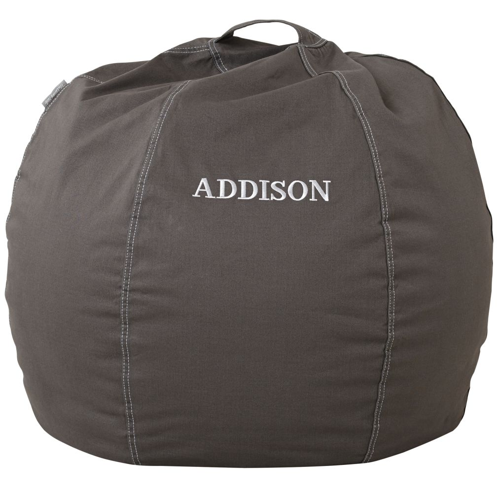 "30"" Personalized Bean Bag (Grey)"