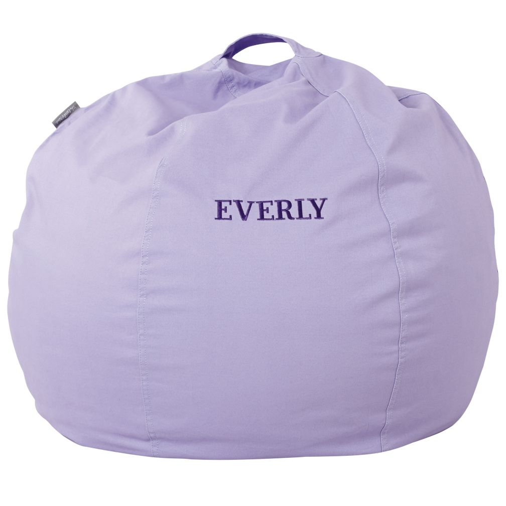 "30"" Personalized Bean Bag Cover (New Lavender)"