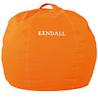 "30"" Orange Personalized Bean Bag CoverFree embroidered personalization"