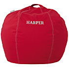 "30"" Red Personalized Bean Bag CoverFree embroidered personalization"