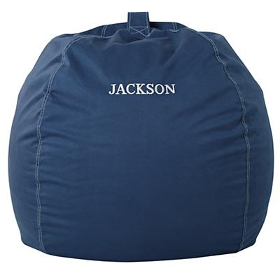 "40"" Personalized Bean Bag Cover (Dk. Blue)"