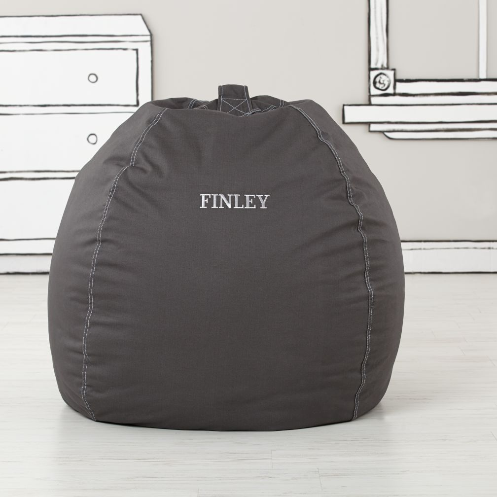 "40"" Personalized Bean Bag Cover (Grey)"