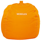 "40"" Orange Personalized Ginormous Bean Bag (Includes Cover and Insert)Free embroidered personalization"