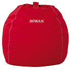 "40"" Personalized Red Bean Bag(includes Cover and Insert)Free embroidered personalization"