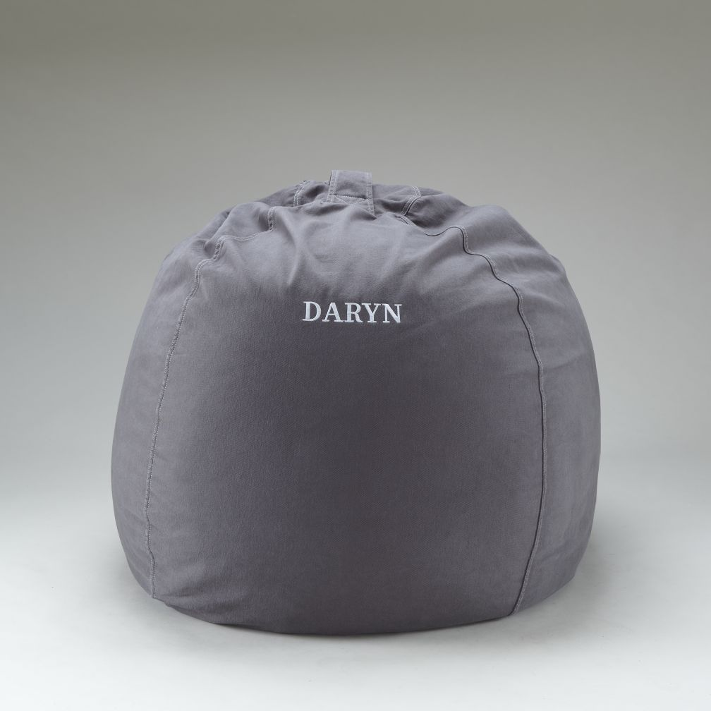 "40"" Grey Personalized Ginormous Beanbag"