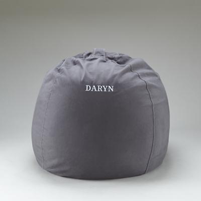 "40"" Personalized Ginormous Beanbag Cover (Grey)"